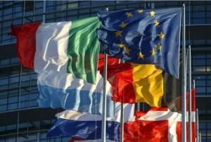 Bandera de la Unión Europea y demás banderas de los países miembros